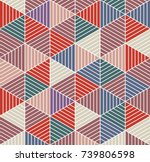 vector multicolored pattern in... | Shutterstock .eps vector #739806598