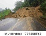 Landslide At Rural Road In...