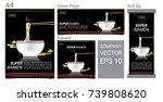 japanese noodle ramen... | Shutterstock .eps vector #739808620