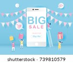 big sale on mobile phone for... | Shutterstock .eps vector #739810579
