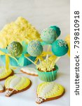 decor for a birthday party.... | Shutterstock . vector #739810918