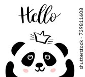 panda. chinese panda bear in... | Shutterstock .eps vector #739811608