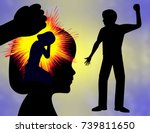 domestic violence and trauma.... | Shutterstock . vector #739811650