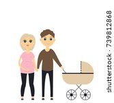 young family   Shutterstock .eps vector #739812868