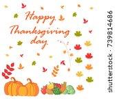 thanksgiving day | Shutterstock .eps vector #739814686