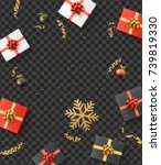christmas composition.... | Shutterstock .eps vector #739819330