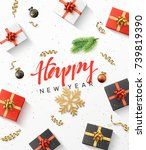 happy new year background....   Shutterstock .eps vector #739819390