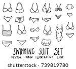set of swimming suit... | Shutterstock .eps vector #739819780