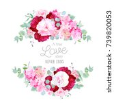 glamour mix of flowers... | Shutterstock .eps vector #739820053