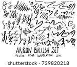 set of arrow brush illustration ... | Shutterstock .eps vector #739820218
