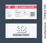 cinema ticket card. element... | Shutterstock .eps vector #739821769