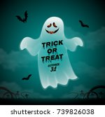 happy halloween party trick or... | Shutterstock .eps vector #739826038