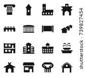 16 vector icon set   column ... | Shutterstock .eps vector #739827454