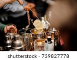process of making cocktail with ... | Shutterstock . vector #739827778