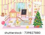 kindergarten vector... | Shutterstock .eps vector #739827880
