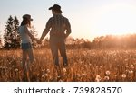 couple of a young man and a... | Shutterstock . vector #739828570