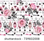 seamless pattern with... | Shutterstock . vector #739832008
