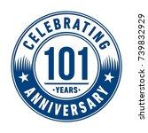 101 years anniversary logo... | Shutterstock .eps vector #739832929