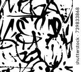 vector graffiti seamless... | Shutterstock .eps vector #739833868