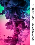 acrylic colors and ink in water.... | Shutterstock . vector #739838878