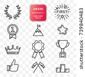 award icon  set of line design... | Shutterstock .eps vector #739840483