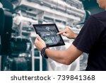 smart industry control concept... | Shutterstock . vector #739841368