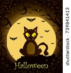 happy halloween poster | Shutterstock .eps vector #739841413