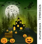 happy halloween poster | Shutterstock .eps vector #739841626