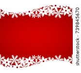 christmas red background with... | Shutterstock . vector #739845670