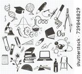 set of hand drawn vector... | Shutterstock .eps vector #739848829