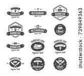 steak house vintage label.... | Shutterstock .eps vector #739849363