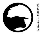 bear and bull vector logo. icon ...   Shutterstock .eps vector #739850500