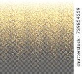gold sparkles on the... | Shutterstock .eps vector #739854259