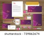 vector abstract stationery... | Shutterstock .eps vector #739862674