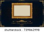 thailand royal gold frame on... | Shutterstock .eps vector #739862998