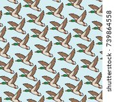 Background Pattern With Mallar...