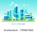 green energy and eco friendly... | Shutterstock .eps vector #739867060