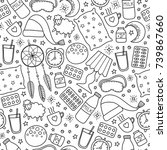 black and white seamless... | Shutterstock .eps vector #739867660