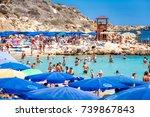 ayia napa  cyprus   august 18 ... | Shutterstock . vector #739867843