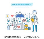 healthcare medical... | Shutterstock .eps vector #739870573
