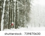 Blurred Winter Background With...