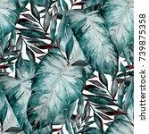watercolor seamless pattern...   Shutterstock . vector #739875358