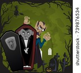 halloween backgrounds set with...   Shutterstock .eps vector #739876534