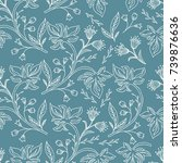 hand drawn wallpaper seamless...   Shutterstock .eps vector #739876636