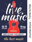 live music. vector poster ... | Shutterstock .eps vector #739876708