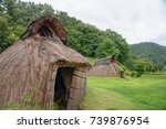 pit dwelling house | Shutterstock . vector #739876954
