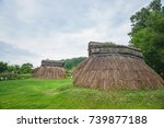 pit dwelling house | Shutterstock . vector #739877188