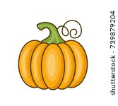icon pumpkin. vector... | Shutterstock .eps vector #739879204