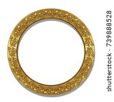 round frame gold color with... | Shutterstock .eps vector #739888528