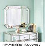 interior with mirror | Shutterstock . vector #739889860